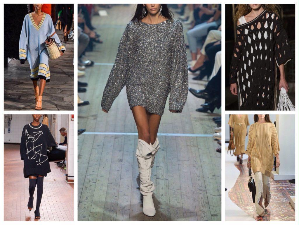 платье-свитер в модных коллекциях