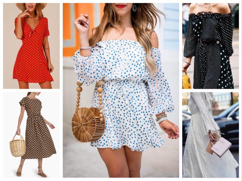 платья в горошек комплекты