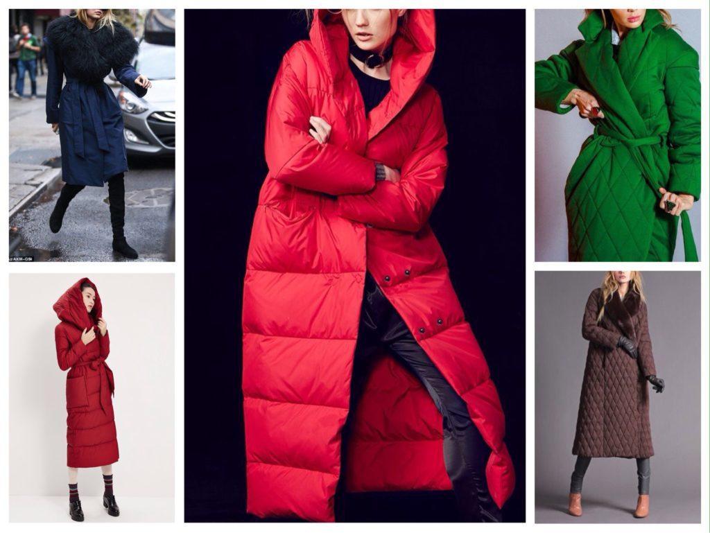 стеганое пальто халат