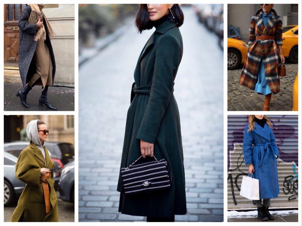 цветные модели пальто фото