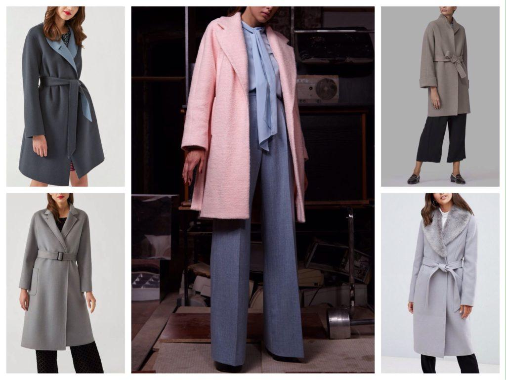 укороченная модель пальто халат