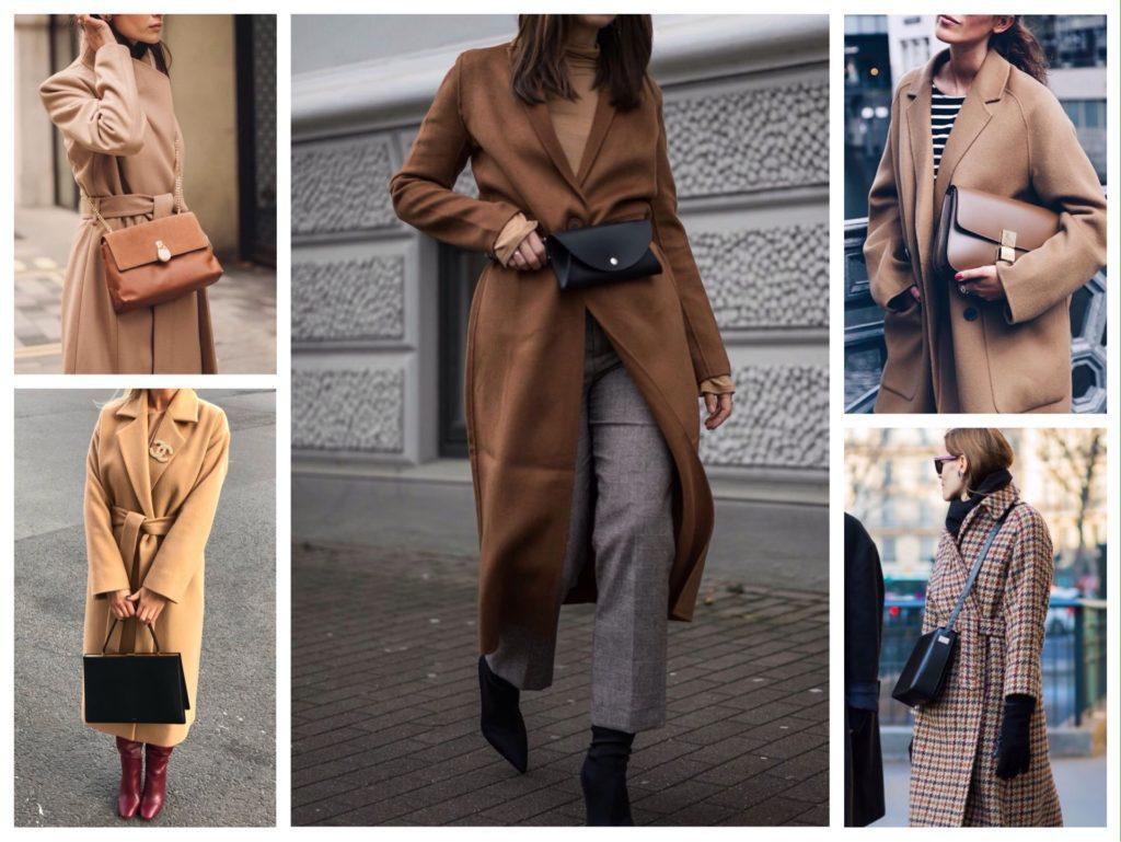 варианты сумок к пальто