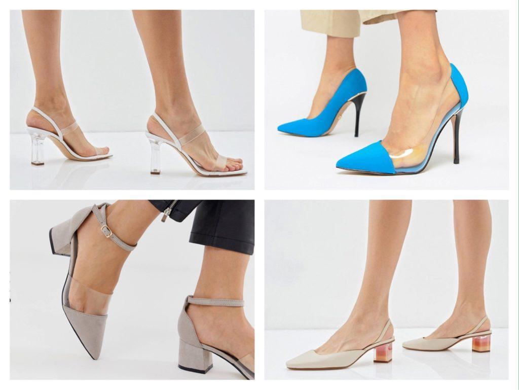 обувь с прозрачным элементом