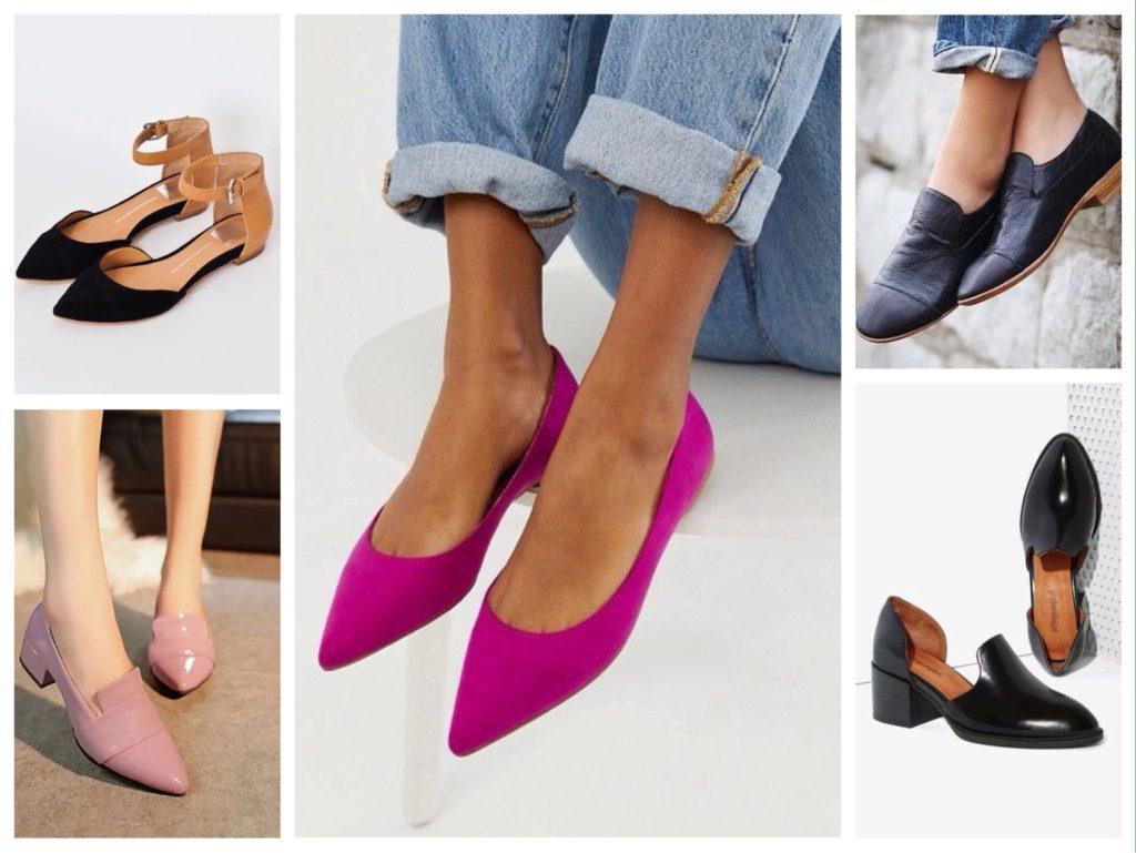 туфли на плоском ходу