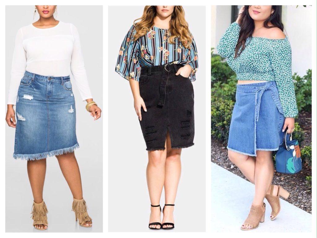 джинсовая юбка для полных