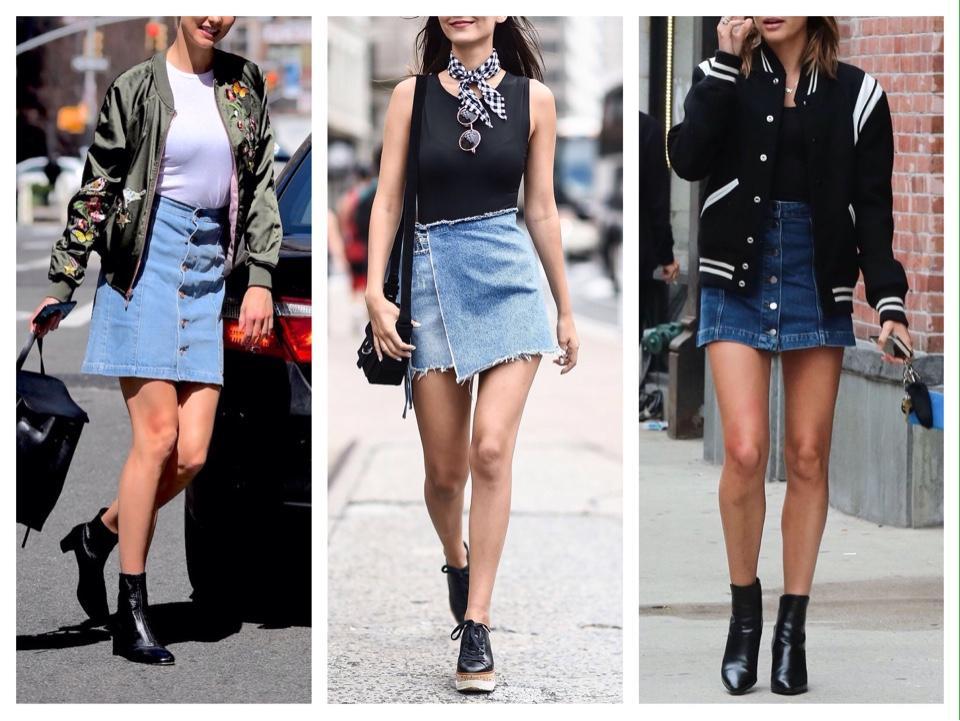 короткая джинсовая юбка фото