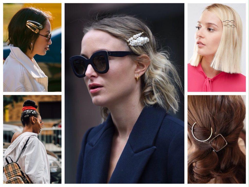 модные образы с заколками на волосах