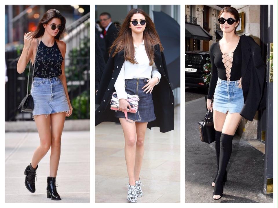 селебрити джинсовая юбка