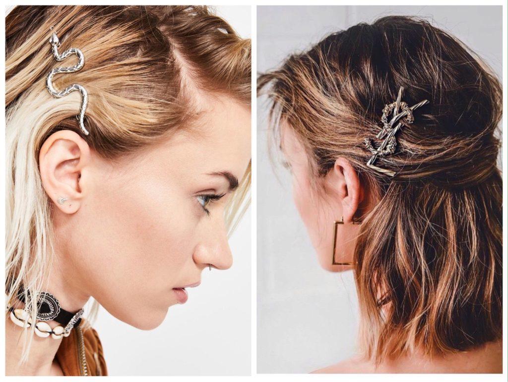 заколки для волос как носить