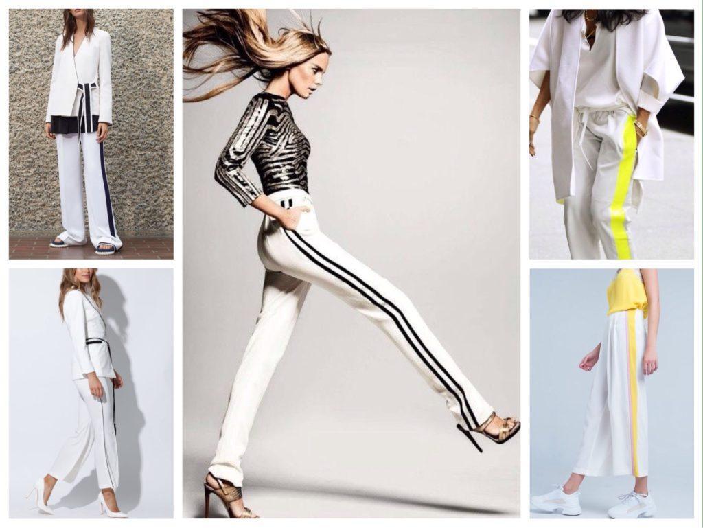 белые брюки с лампасами