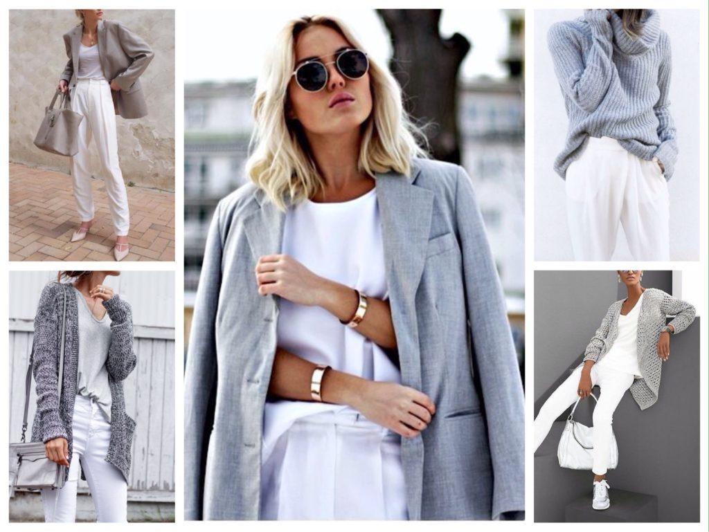 белый и серый