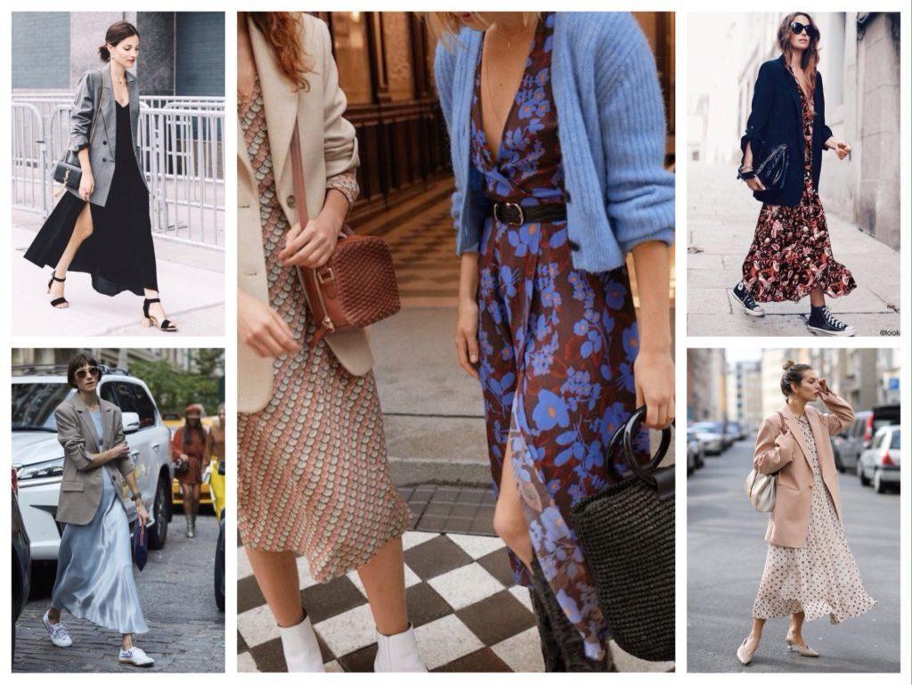 городские образы с платьем