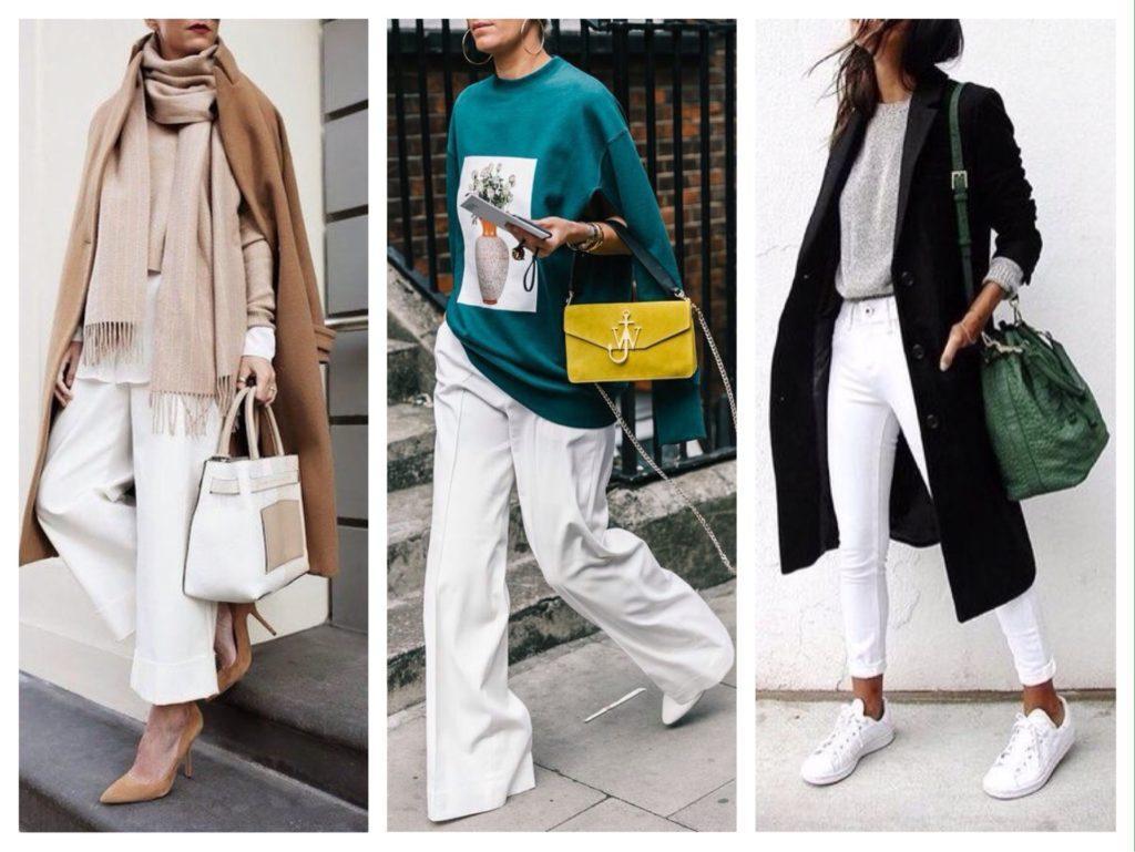 сочетания с белыми брюками