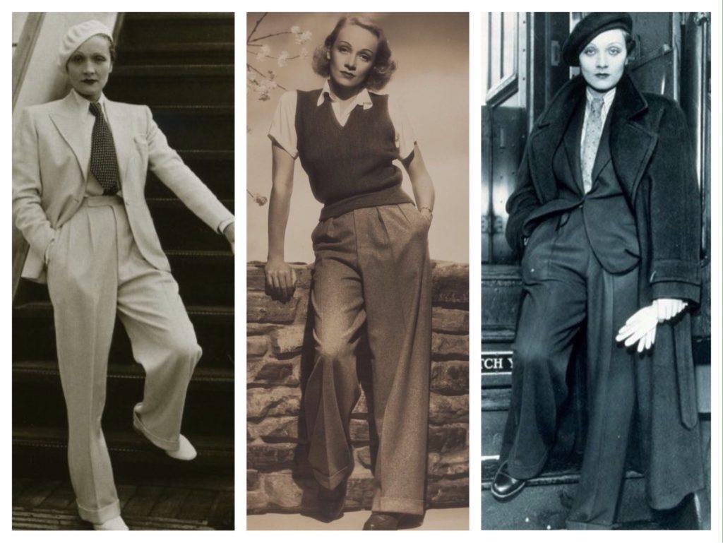 Марлен Дитрих брюки фото