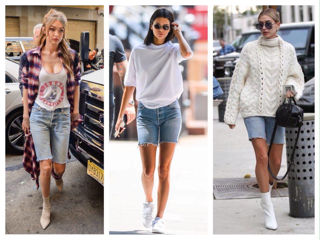 Селебрити джинсовые шорты бермуды
