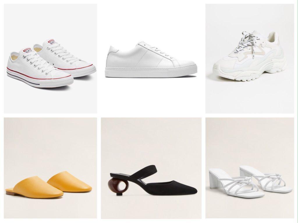 базовые модели обуви на лето