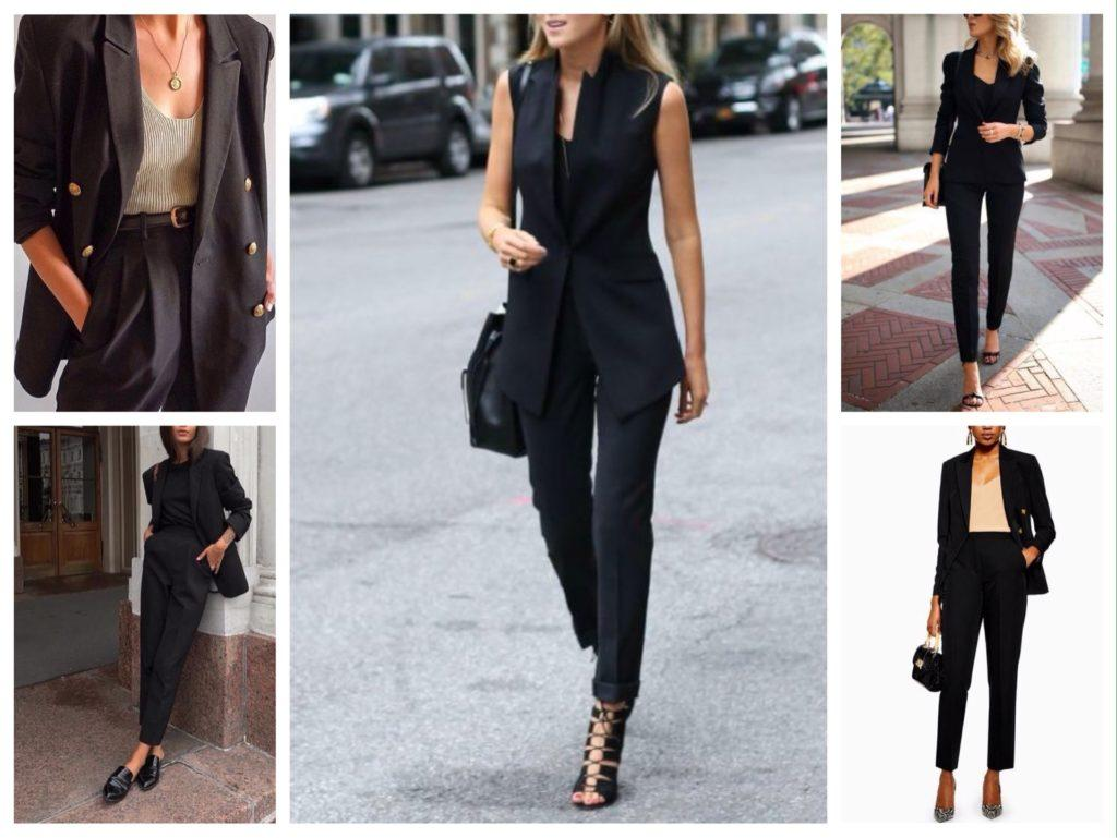 черные деловые костюмы вариации