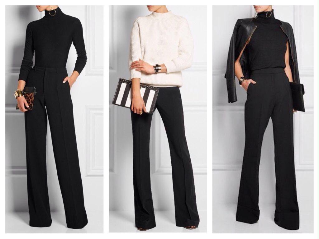 деловые комплекты с черными брюками
