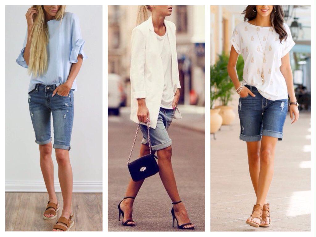 джинсовые бермуды