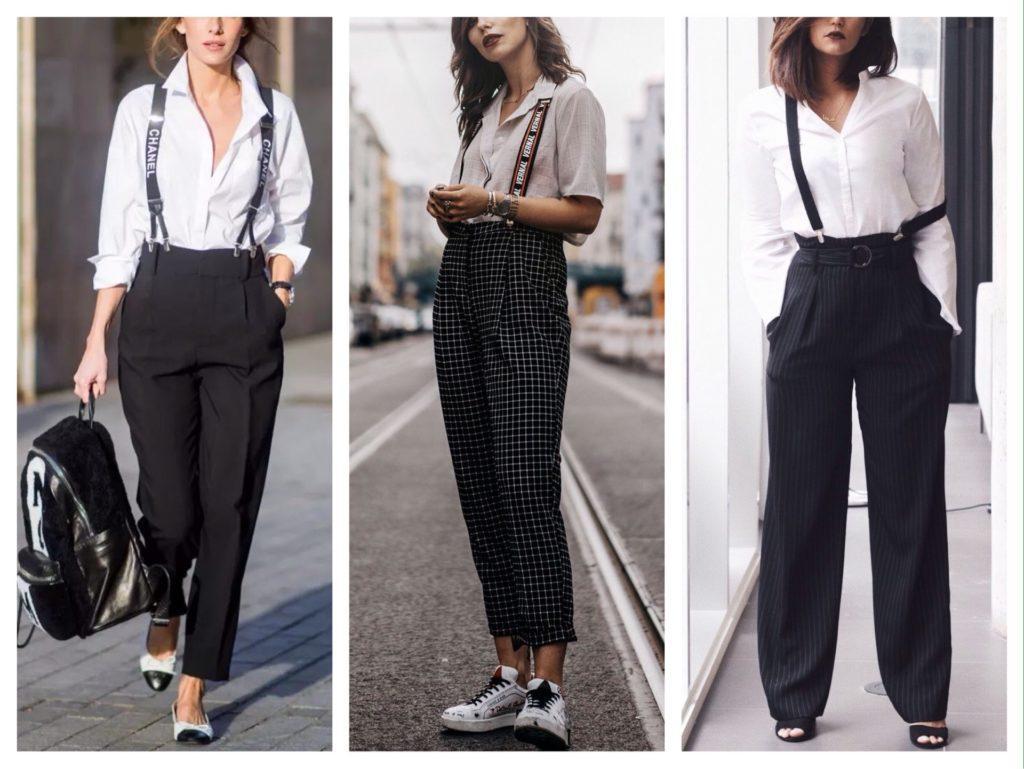 классические модели брюк с подтяжками