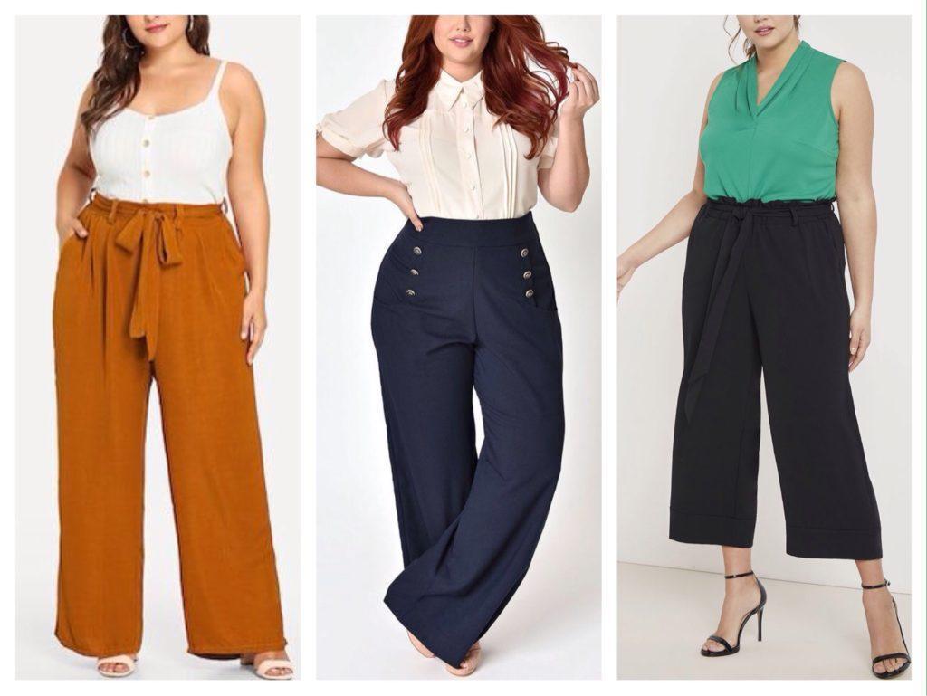 модели брюк для plus size