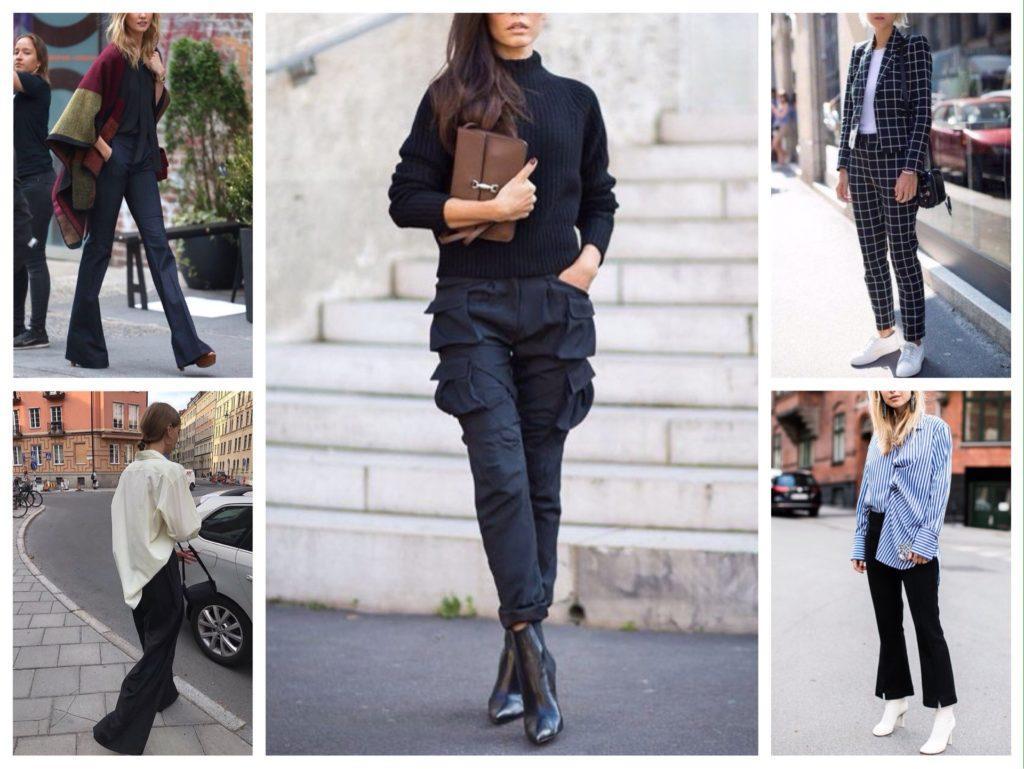 обувь с черными брюками
