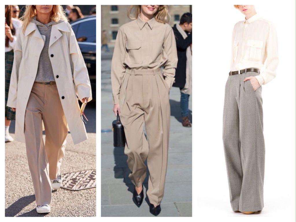 широкие брюки со стрелками фото