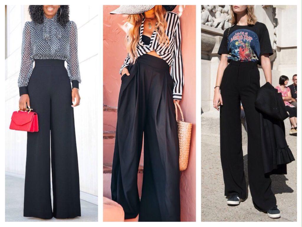 широкие брюки в пол