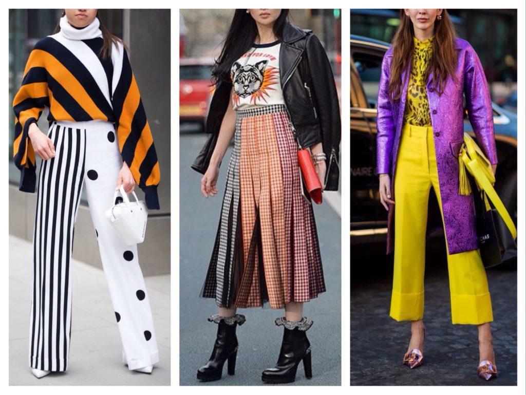 яркие модели брюк