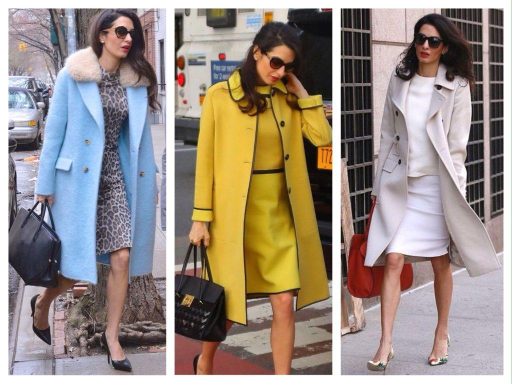 Амаль Клуни комплекты с пальто фото