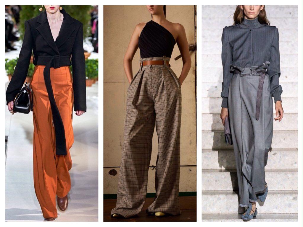 брюки с завышенной талией от кутюр