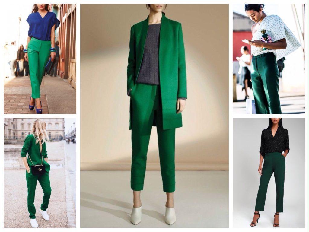 классические брюки в зеленых оттенках