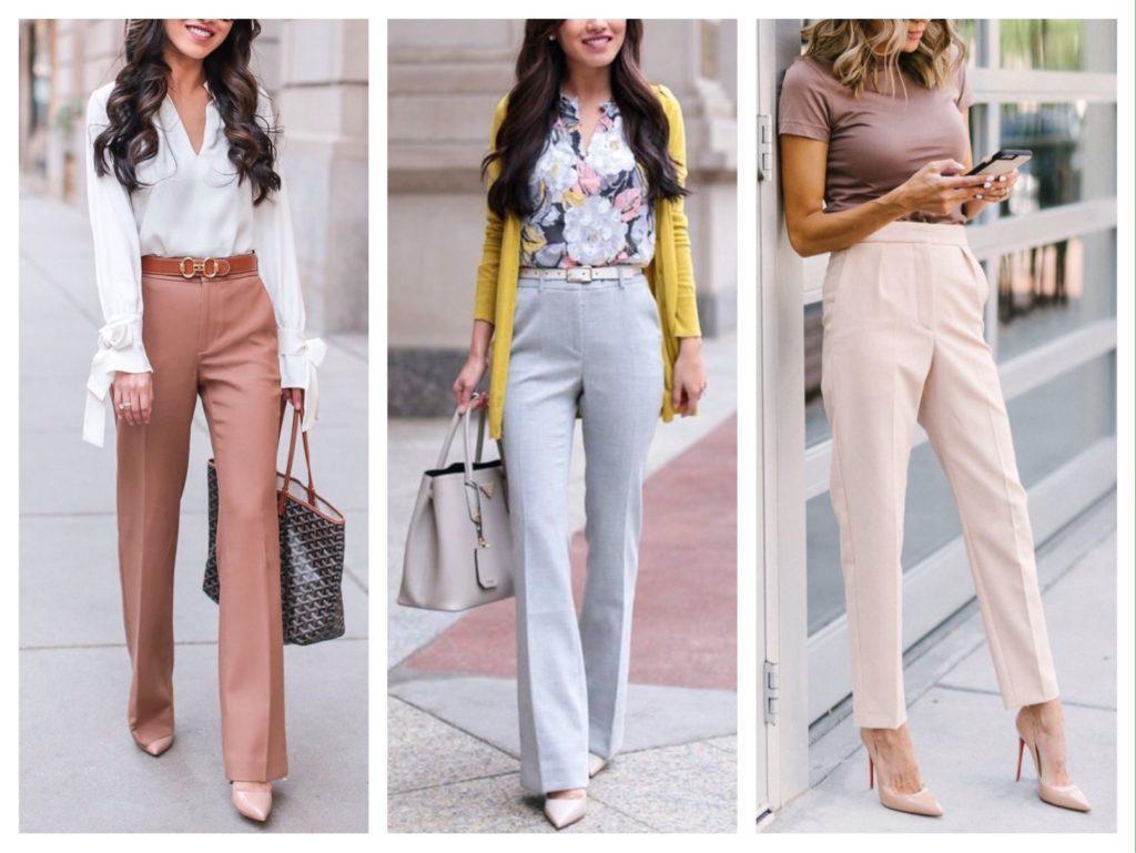 классические модели брюк с высокой посадкой