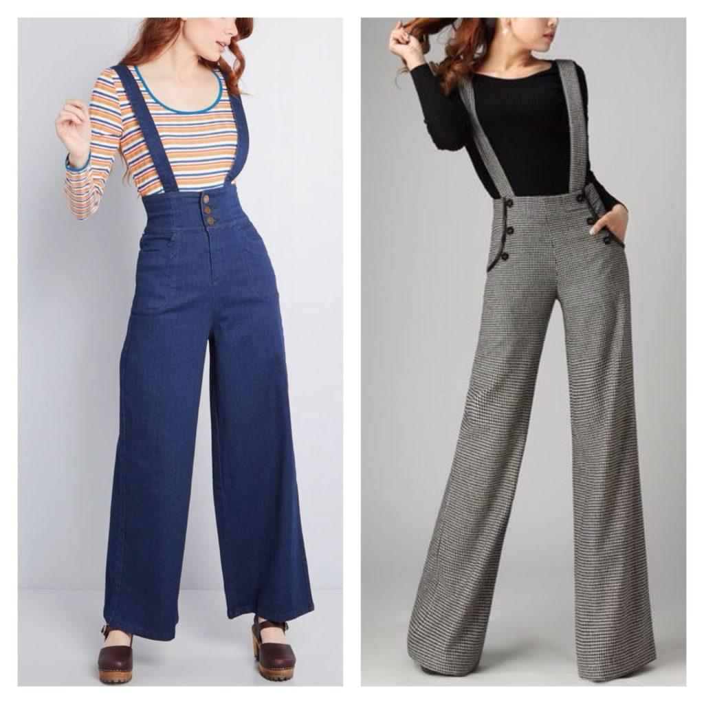 модели брюк с лямками