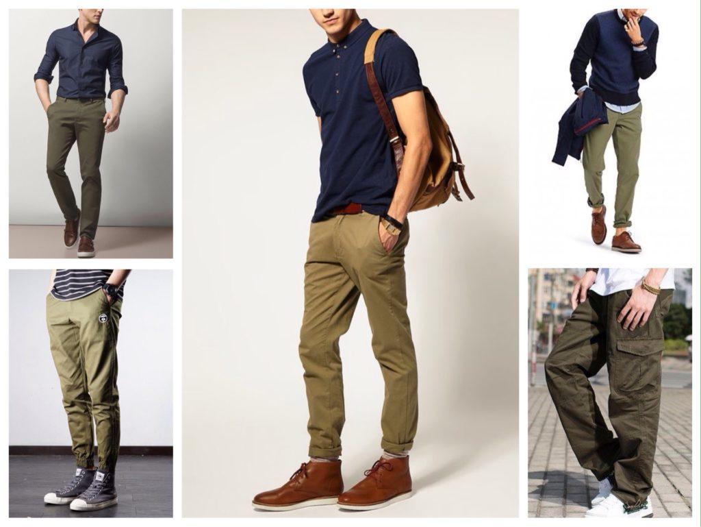 мужские брюки хаки