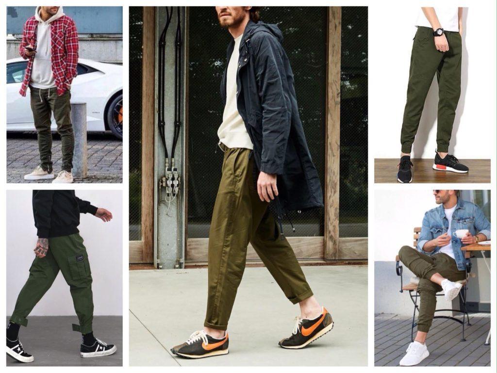 мужские образы оливковые брюки