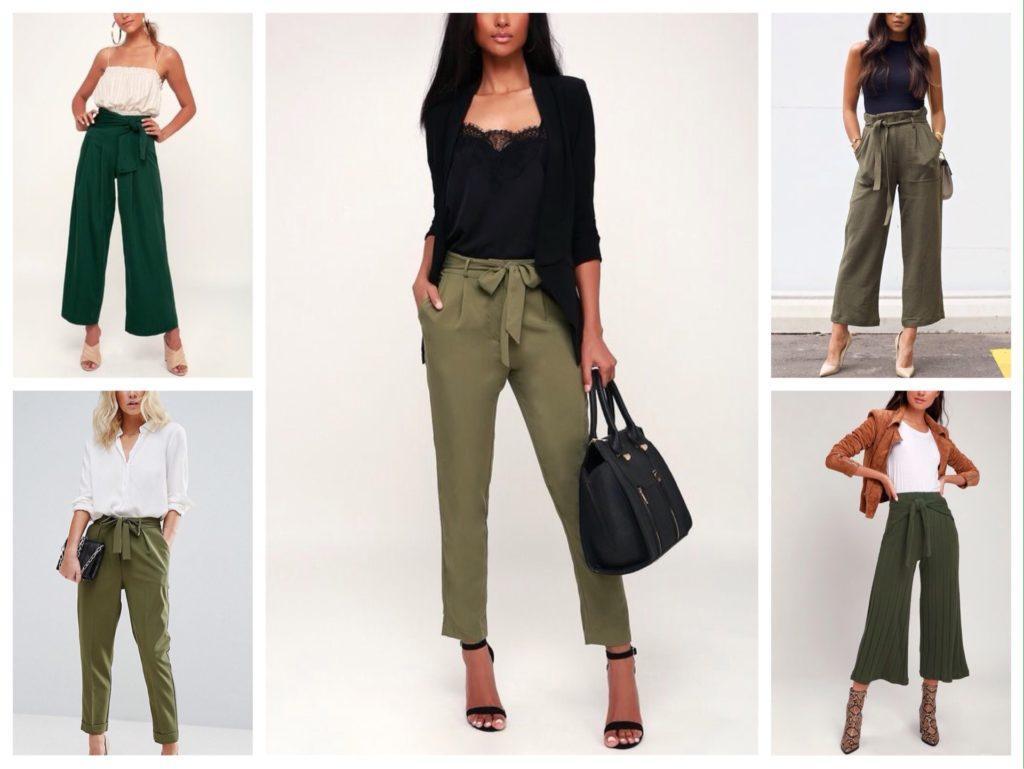 укороченные варианты брюк