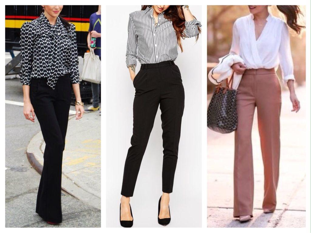 варианты блузок и модели брюк