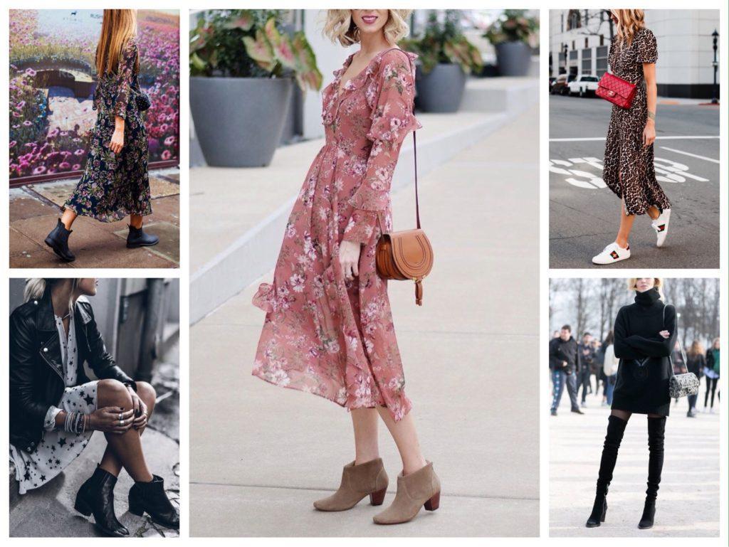 обувь к платью на осень