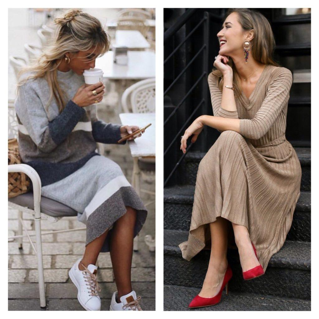 осенние модели платьев