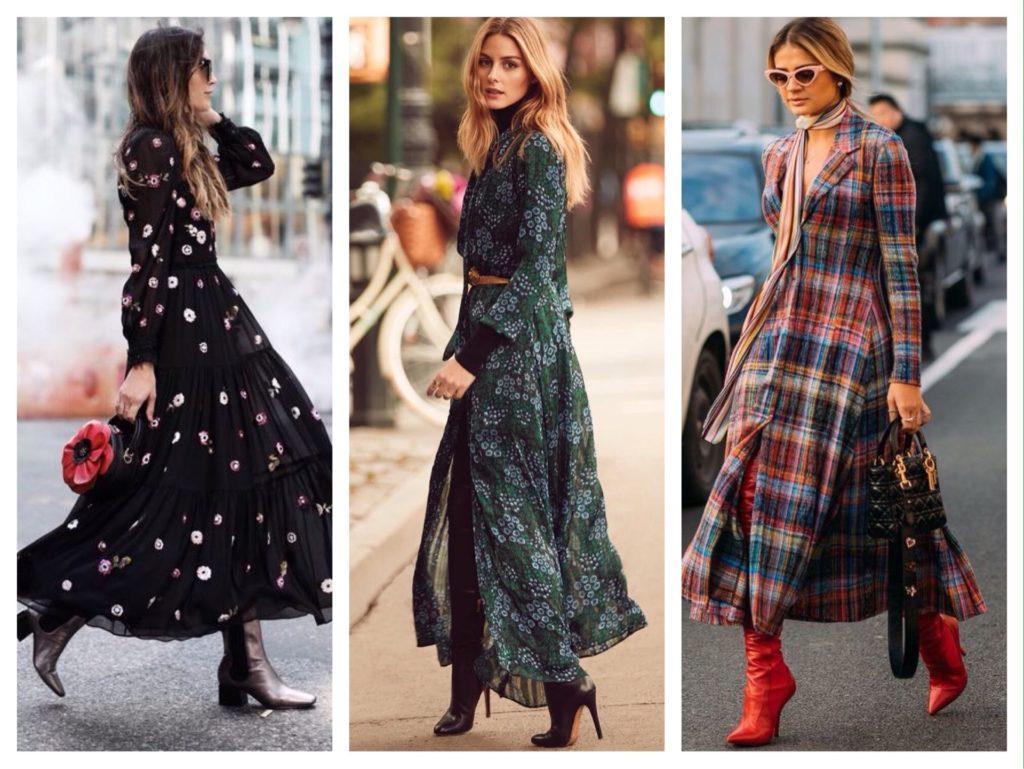 street style платья макси