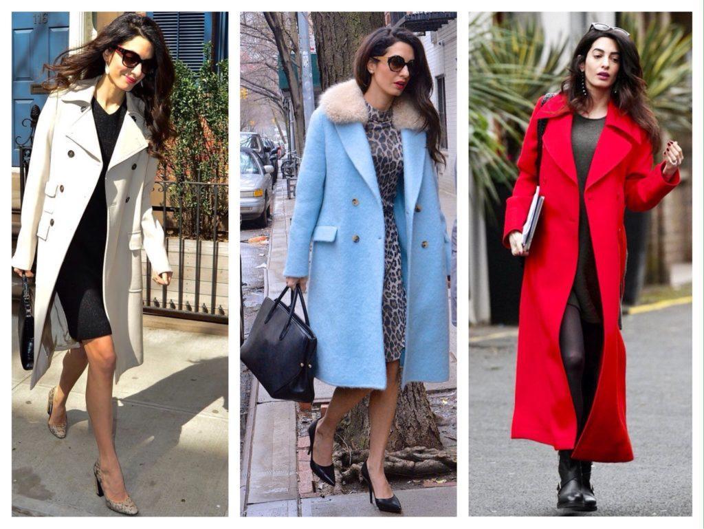 Амаль Клуни образы с пальто