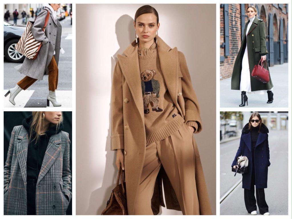 С чем носить двубортное пальто