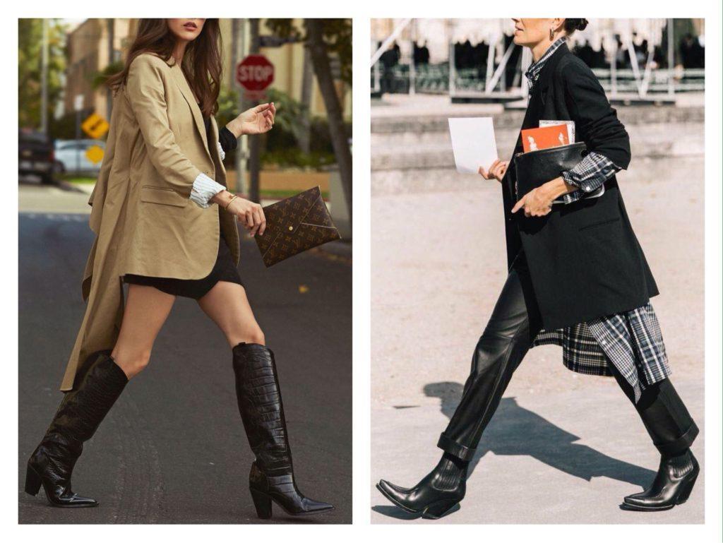 модные комплекты с обувью казаки