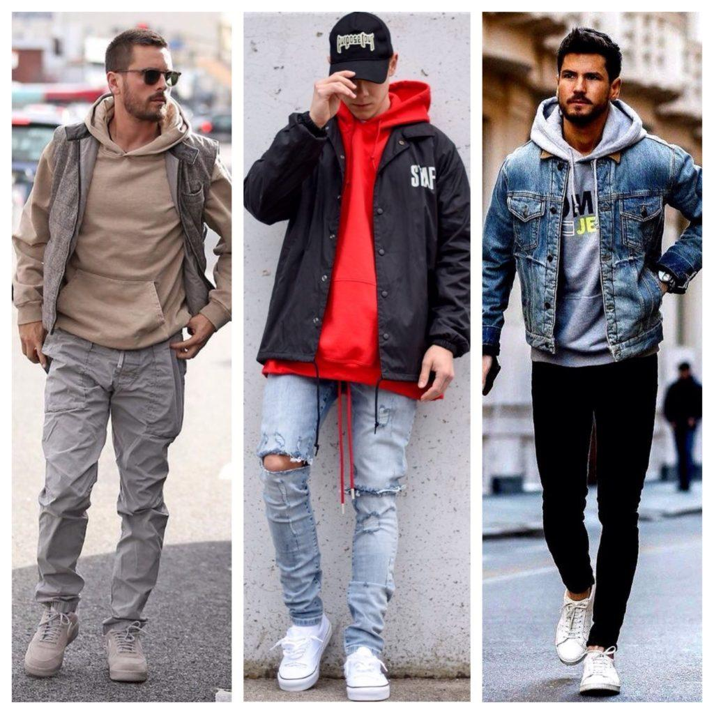 с чем носить худи мужчинам
