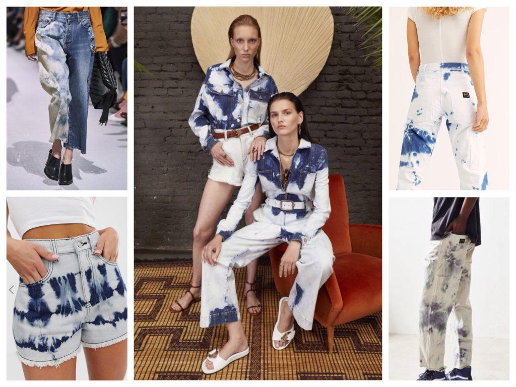 джинсовые образы в окрашивании тай дай