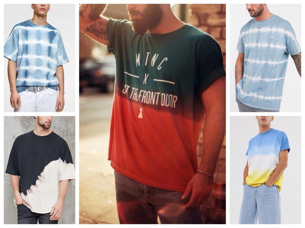 мужские футболки тай дай
