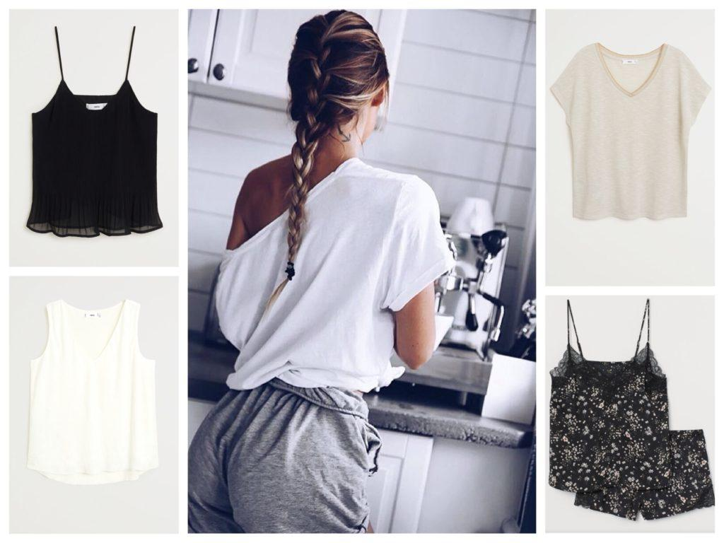 топы и футболки в гардеробе для дома