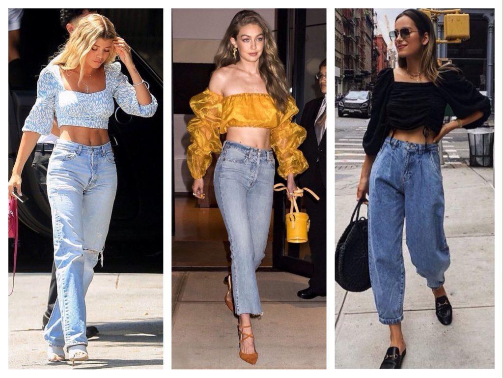 кроп топ и джинсы