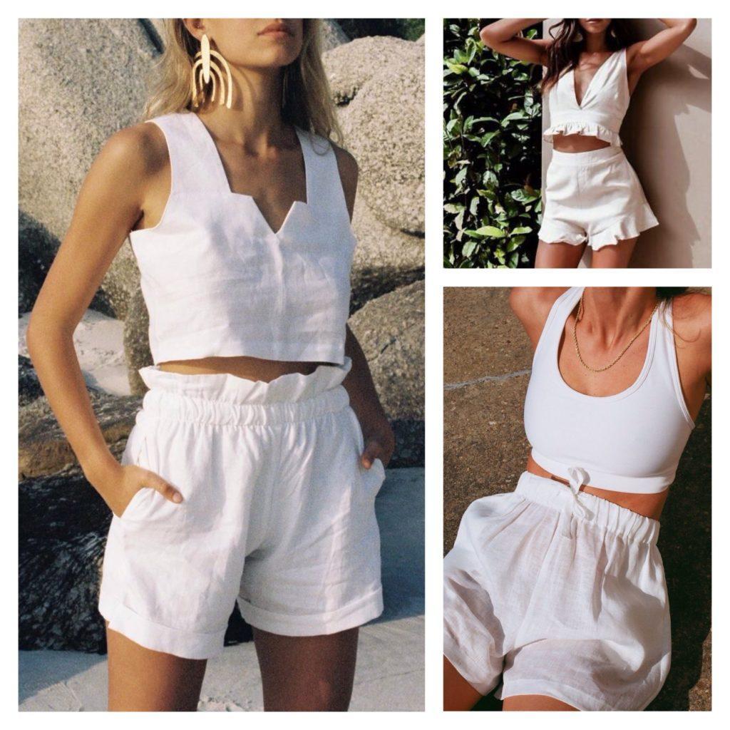 летние коплекты с шортами